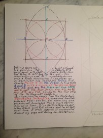 Book of geometry: square orthogonal to a line