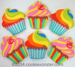 ©Cookievonster Rainbow cupcakes