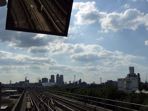 Millennium Dome etc. from a station of the DLR