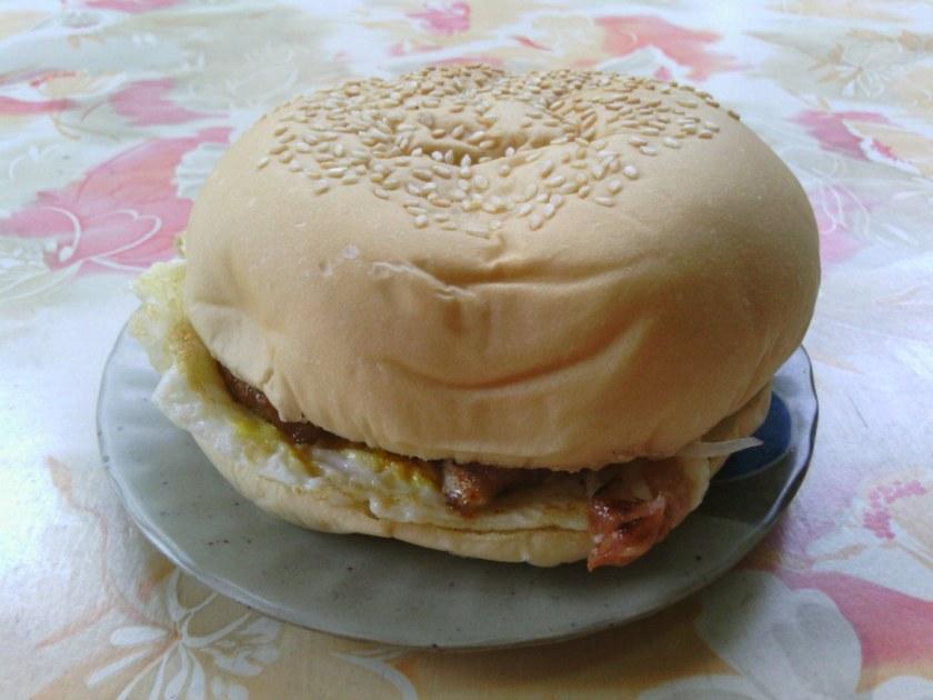 早餐店漢堡