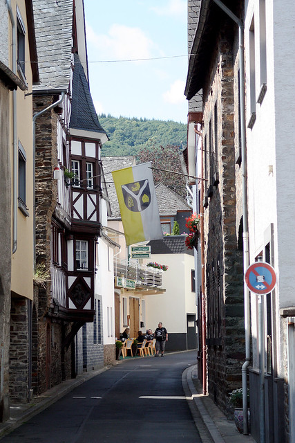 One of the many narrow streets running through Cochem Germany.