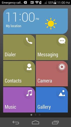 โหมด Simple home ของ Huawei Ascend P7