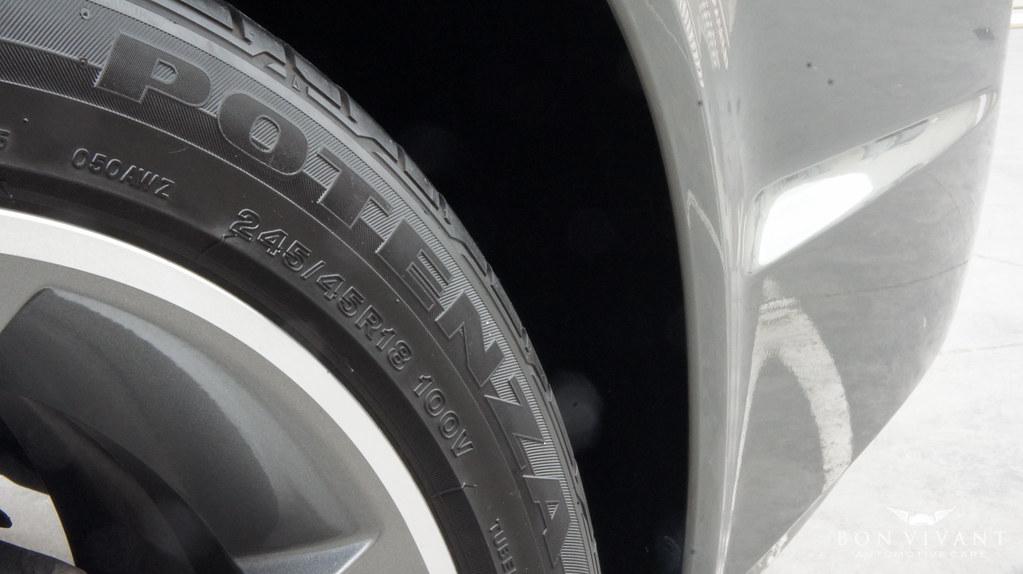 Holden SV6 Potenza tyres dressed by Bon Vivant