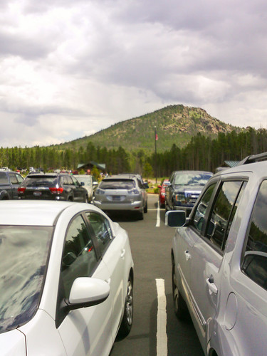 Overflow parking lot full
