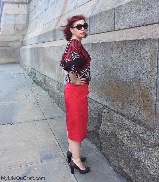 Megan Nielsen Flint pants from the side