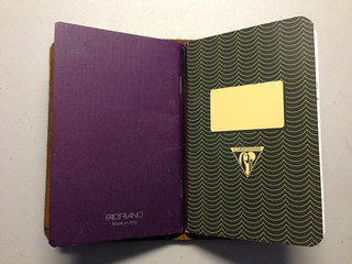Davis Leatherwork Simple Notebook Cover, Fabriano Ecoqua Notebook, Clairefontaine Notebook