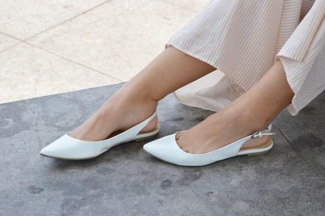 Target white slingback flats, pointed toe flats