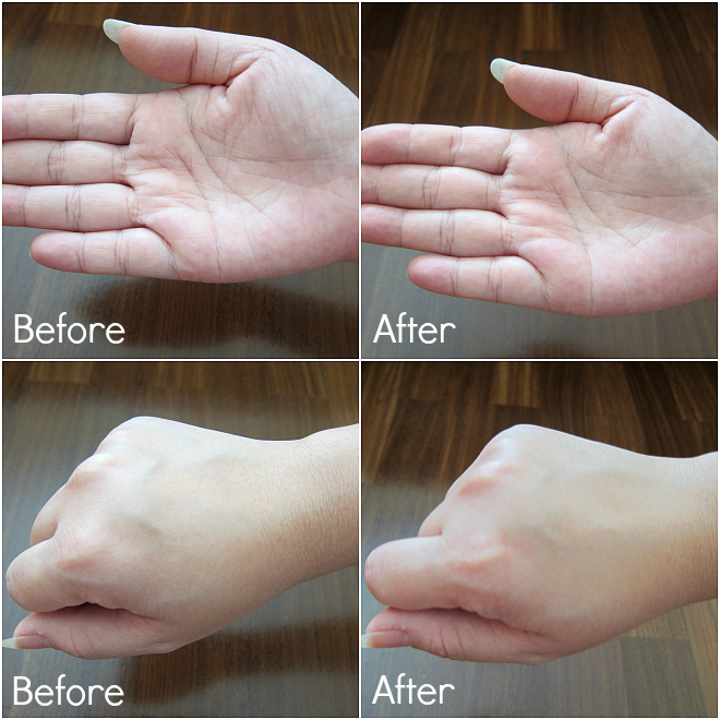 Hand Chemistry Before and After