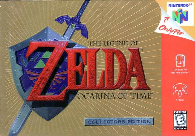 The Legend of Zelda: Ocarina of Time Collector's Edition N64 Box Design Cover