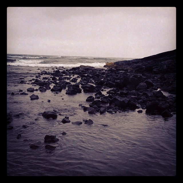 Black sand beach at Punalu'u.