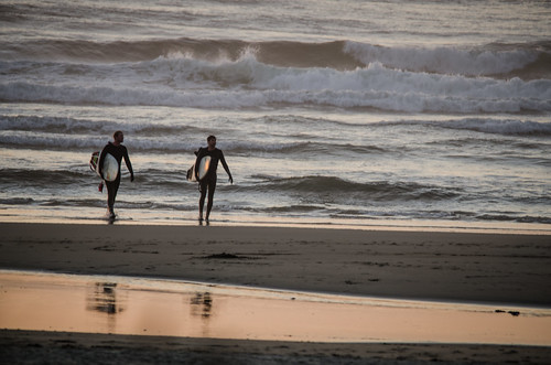 Surfers at Bastendorf Beach