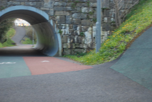 Inclines, ramps and slops on Westport's urban greenway