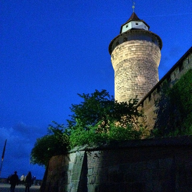 Imperial Castle of Nuremberg at night