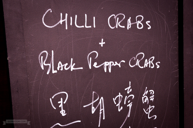 Chilli Crabs + Black Pepper Crabs Signage