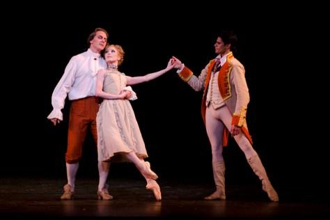 Sarah Lamb as Manon, Christopher Saunders as Monsieur G.M and Thiago Soares as Lescaut in Manon, The Royal Ballet © ROH / Tristram Kenton 2011