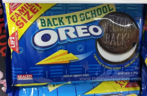 Nabisco Limited Edition Back to School Oreo