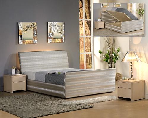 掀床工廠推薦款-摩登白橡床組-高質感排骨透氣掀床床架組1
