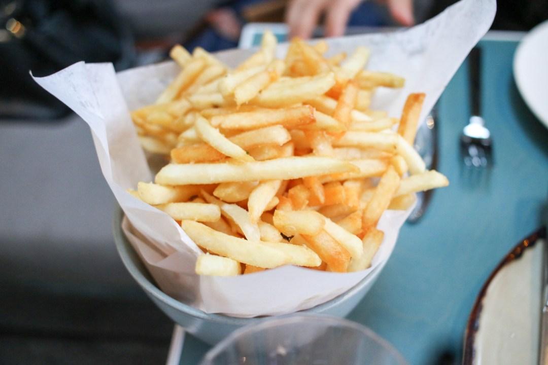 Fries, smoked salt