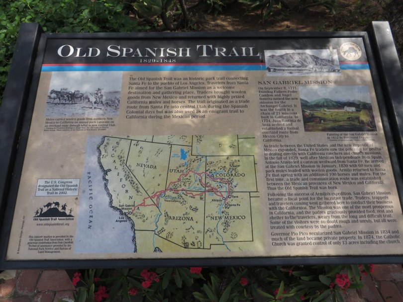 Old Spanish Trail, Mission San Gabriel, San Gabriel, California