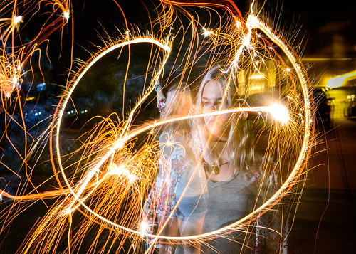 Mackenzie With A Sparkler