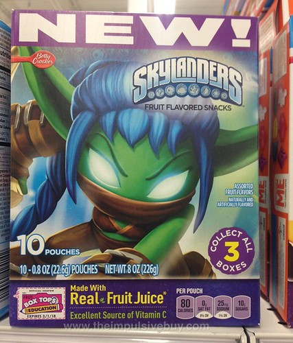 Betty Crocker Skylanders Fruit Flavored Snacks