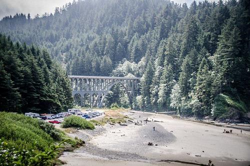 Heceta Head Beach and Cape Creek Bridge
