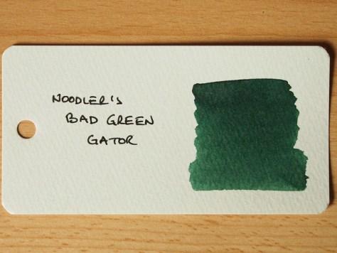 Noodler's Bad Green Gator - Ink Review - Word Card
