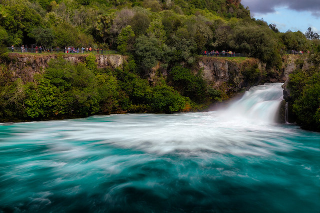 Huka Falls - New Zealand Travel Destination Photos