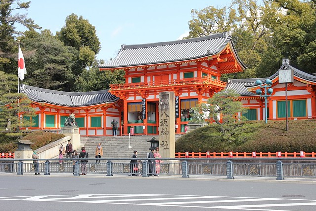 只有路過的八坂神社