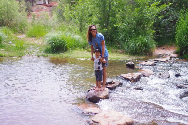 missie and asher at red rock crossing