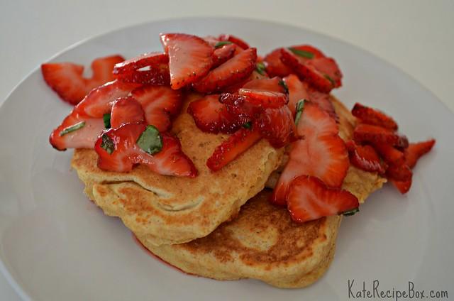 StrawberryBasilPancakes