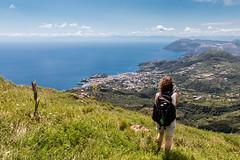Blick auf die Stadt Lipari