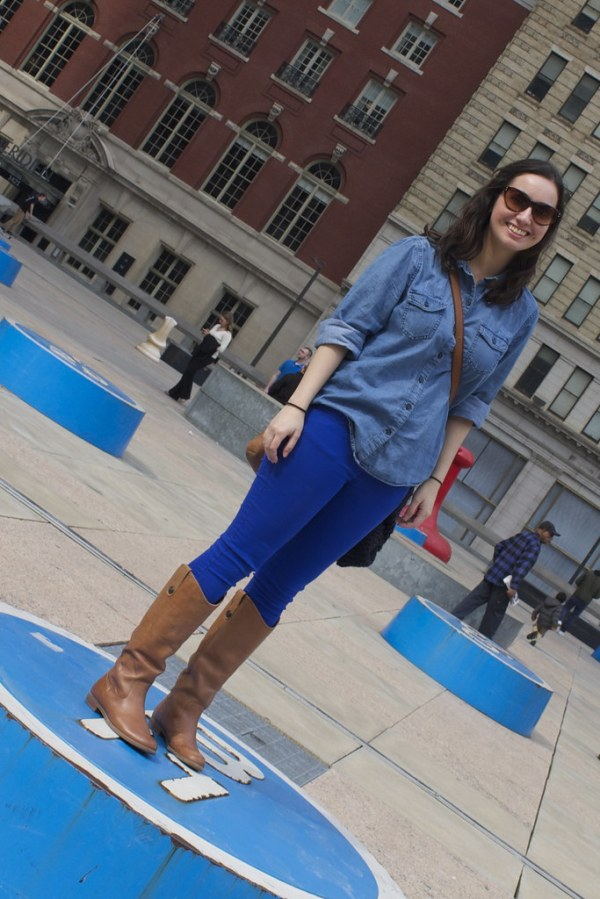 Chambray and Colored Jeans