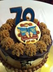 Chest nut sponge and chocolate cream cake.