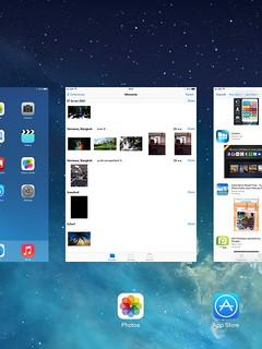 Task switcher ของ iPad Mini with Retina Display