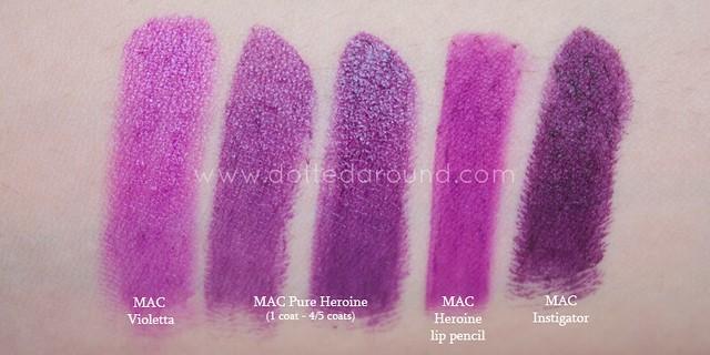 mac pure heroine instigator violetta lipstick
