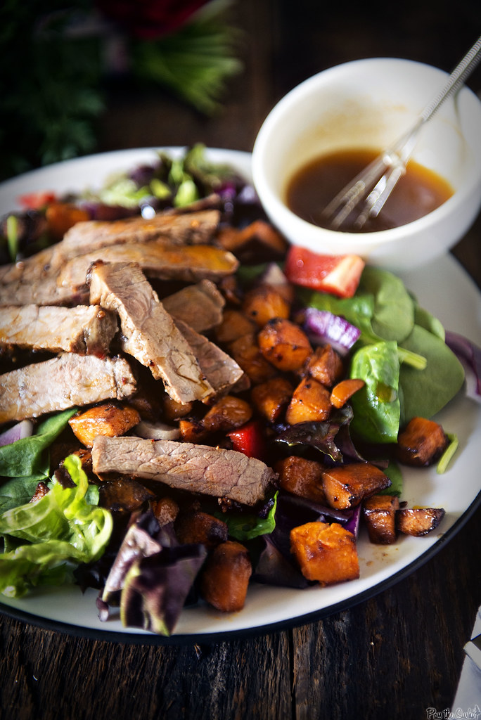 Grilled New York Strip and Sweet Potato Salad with Chili Lime Dressing {Girl Carnivore}