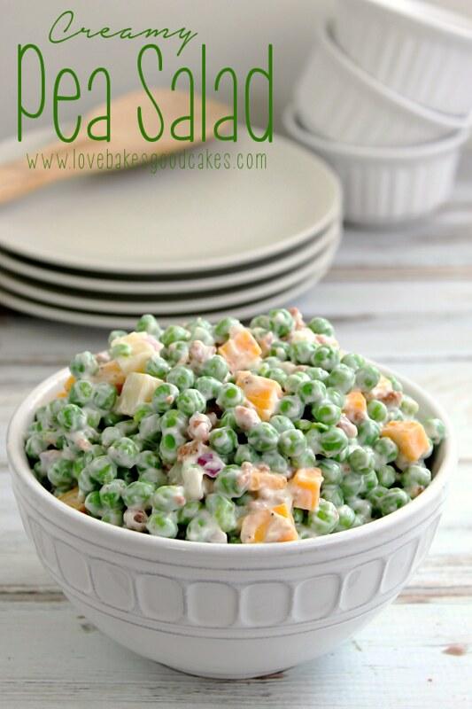 Creamy Pea Salad {Love Bakes Good Cakes}