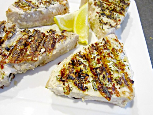 Lemon Rosemary Tuna Steaks 4