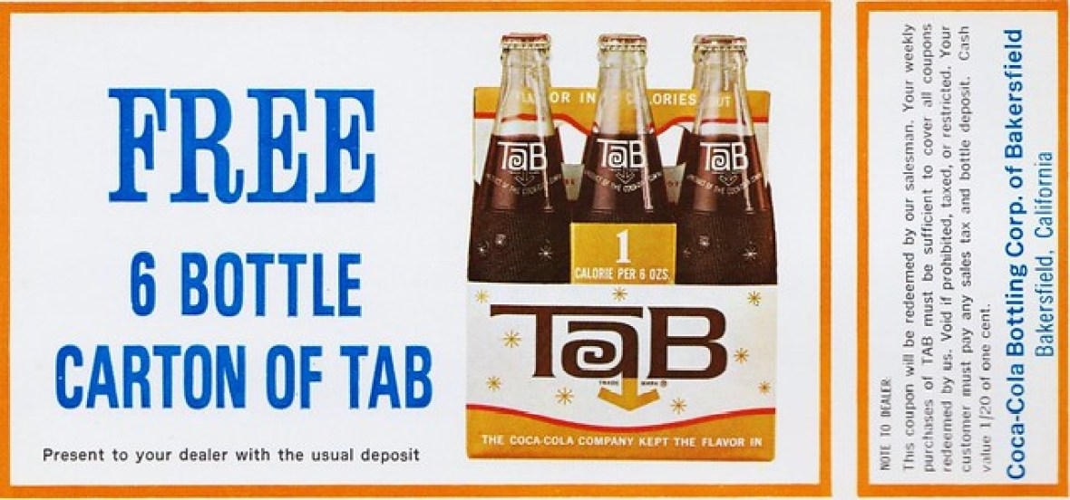 Tab coupon - Bakersfield, California U.S.A. - 1960s