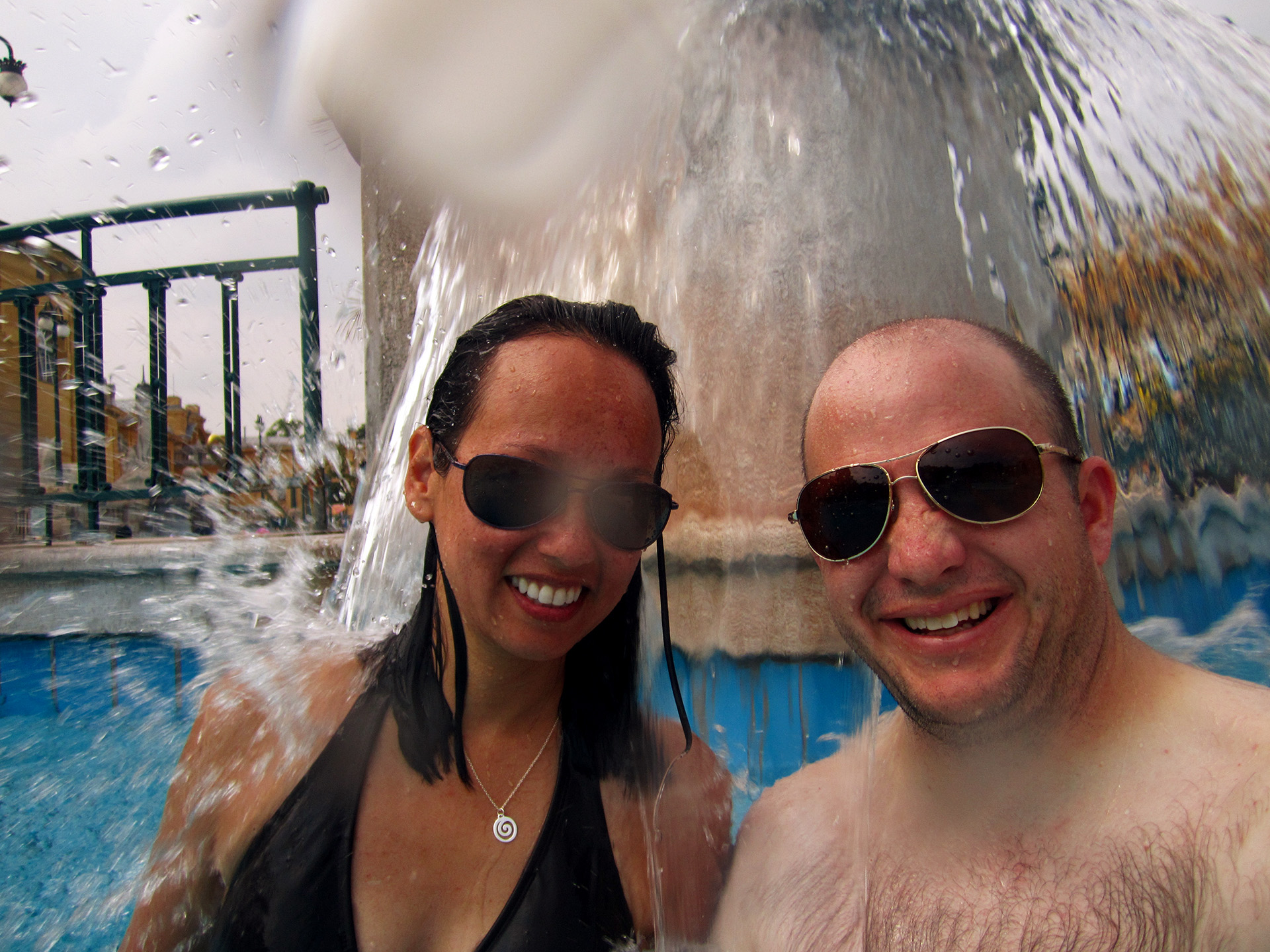 Heather and Matt at Szechenyi Baths.
