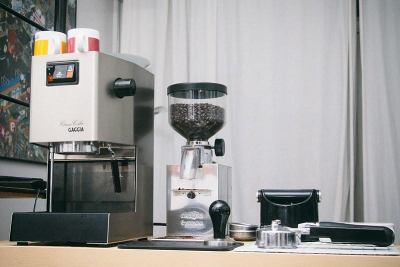Espresso machine setup