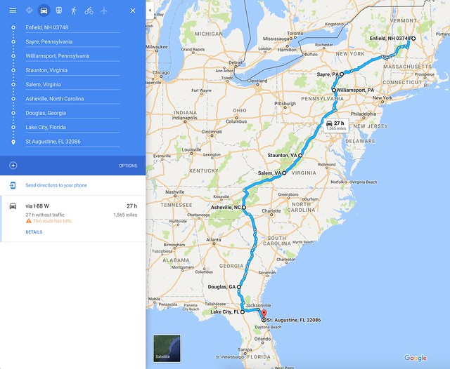 2016 Road Trip Overview