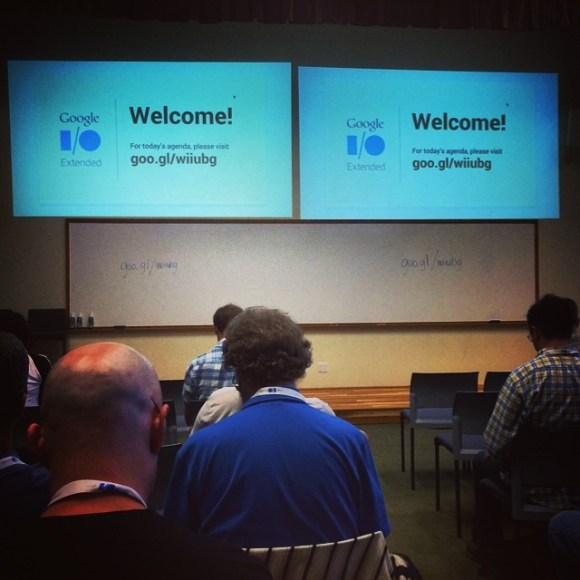 """Made it to Google I/O """"extended"""". Now what do those guys in Mtn View have to share? #google"""