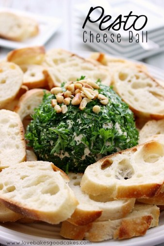 This Pesto Cheese Ball is the perfect appetizer and it is so easy to make! #ChristmasInJuly #shop #CollectiveBias