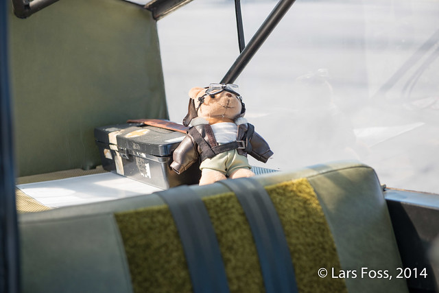 Passenger in the Super Cub