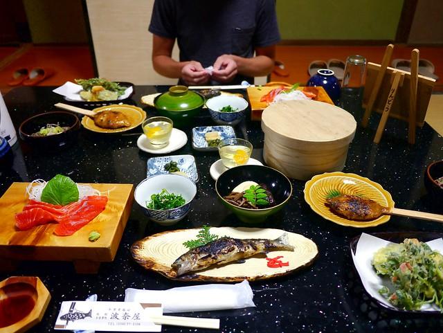 Dinner at Hanaya Ryokan