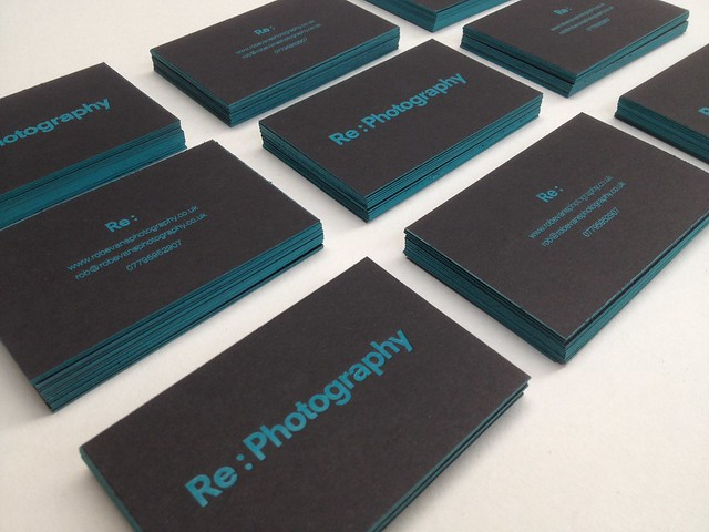 RE Photography business cards