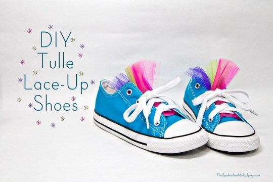 DIY Tulle Lace-Up Shoes