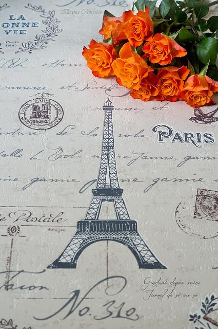 Roses et la Tour Eiffel